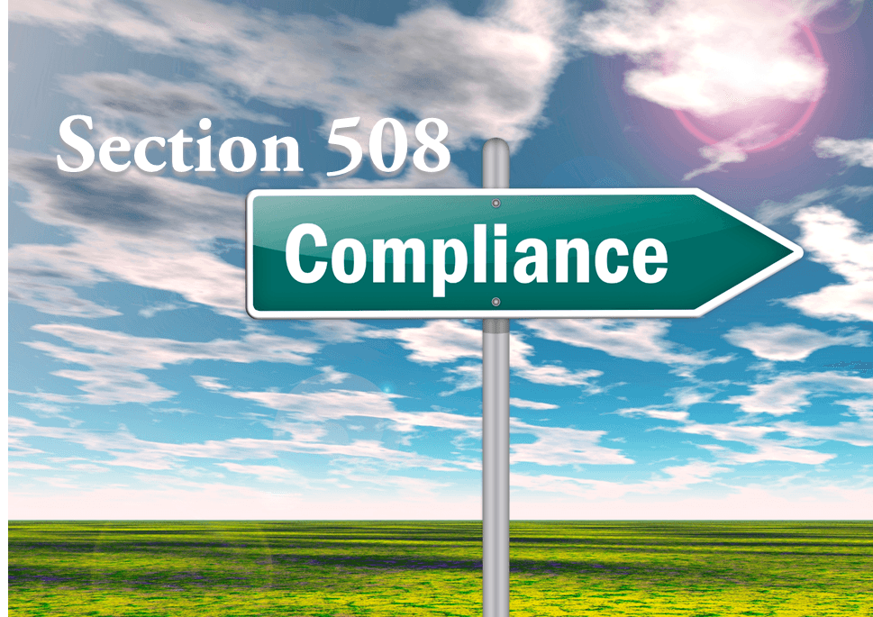 helping websites with 508 compliance